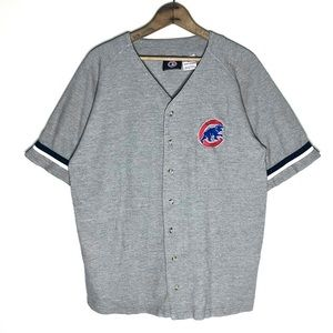 Vintage 90s Chicago Cubs Heather Gray Jersey Sz M